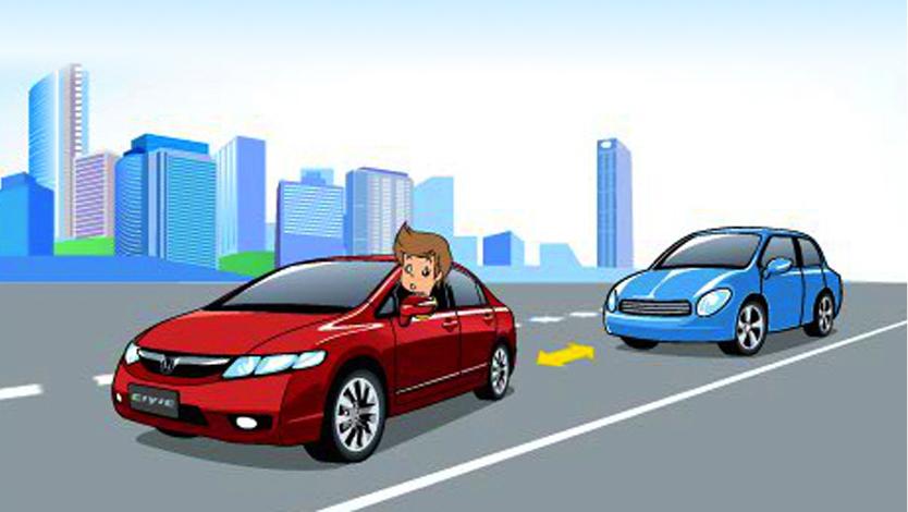 城(cheng)市道路行車安全-保持車距